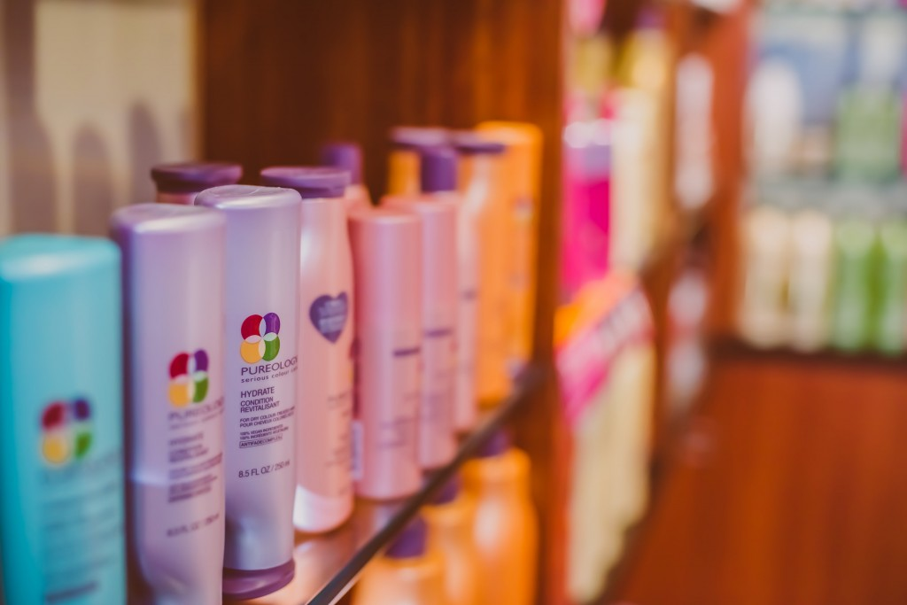 In our retail area, you will find Pureology, IGK, and Bumble and Bumble products.